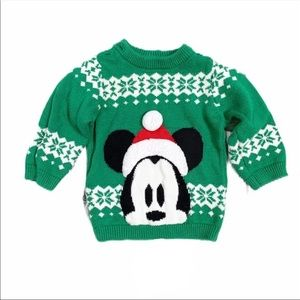Disney mickey fair isle sweater 12-18m